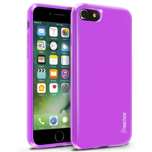 Insten Jelly Gel Case For Apple iPhone 7/iPhone 8, Purple
