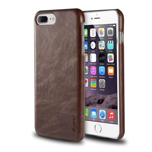 Insten Leather Fabric Cover Case For Apple iPhone 7 Plus/8 Plus, Brown