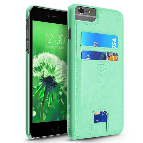 Cobble Pro Leather Fabric Case w/card holder For Apple iPhone 6 Plus/6s Plus, Turquoise
