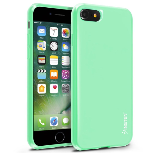 Insten Jelly Rubber Case For Apple iPhone 7/iPhone 8, Mint Green