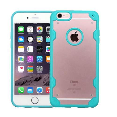 Insten Hard TPU Case For Apple iPhone 6 Plus/6s Plus, Clear/Blue