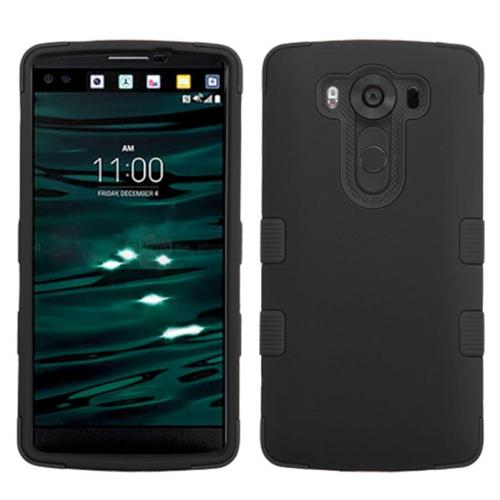 Insten Tuff Hard Hybrid Rubber Coated Silicone Case For LG V10, Black