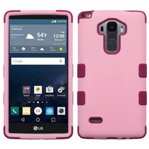 Insten Tuff Hard Dual Layer Rubberized Silicone Case For LG G Stylo/G Vista 2, Pink