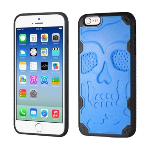 Insten Skullcap Hard TPU Cover Case For Apple iPhone 6/6s, Blue/Black