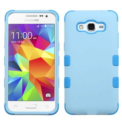 Insten Tuff Hard Hybrid Rubber Coated Silicone Case For Samsung Galaxy Grand Prime, Blue