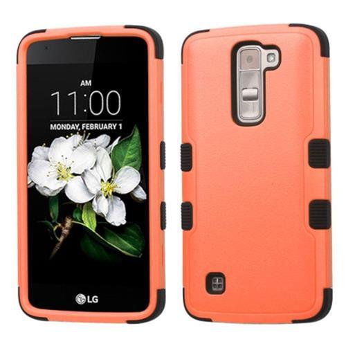 Insten Tuff Hard Hybrid Silicone Case For LG K7, Orange/Black