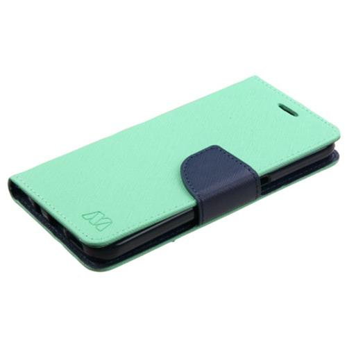 Insten Folio Leather Fabric Case For Samsung Galaxy S7, Green