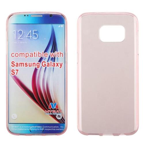 Insten Rubber Cover Case For Samsung Galaxy S7, Rose Gold