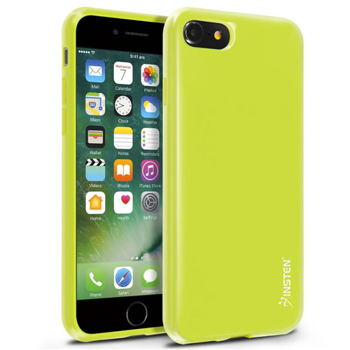 Insten Jelly TPU Cover Case For Apple iPhone 7/iPhone 8, Yellow