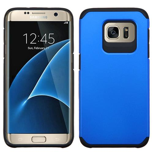 Insten Hard Dual Layer Silicone Case For Samsung Galaxy S7 Edge, Blue/Black