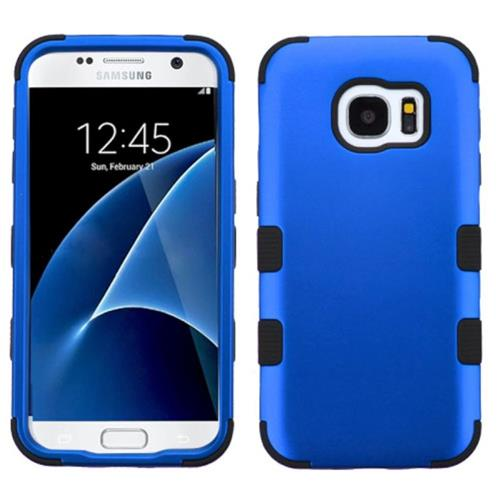 Insten Tuff Hard Hybrid Silicone Case For Samsung Galaxy S7, Blue/Black