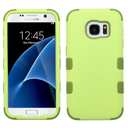 Insten Tuff Hard Hybrid Rubber Coated Silicone Cover Case For Samsung Galaxy S7, Green