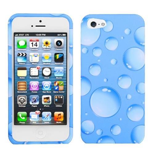 Insten Bubbles Hard Case For Apple iPhone 5/5S/SE, Blue