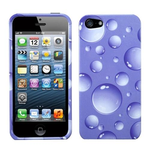 Insten Bubbles Hard Cover Case For Apple iPhone 5/5S/SE, Purple
