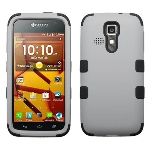 Insten Tuff Hard Dual Layer Rubber Silicone Case For Kyocera Hydro Icon 6730/Hydro Life 6530, Black