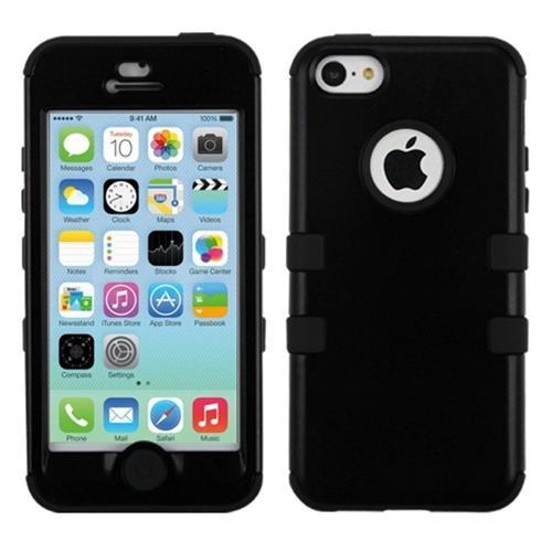 Insten Tuff Hard Hybrid Silicone Case For Apple iPhone 5C, Black