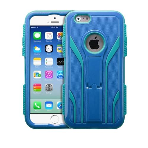 Insten Extreme Tuff Hybrid Shock Resistant Plastic Silicone Case For Apple iPhone 6/6s,Blue/Teal