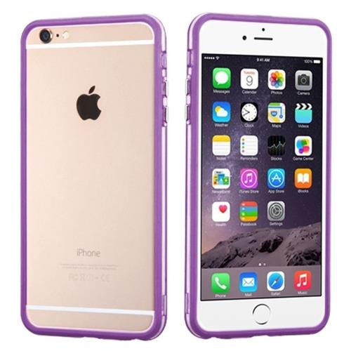 Insten TPU Bumper For Apple iPhone 6 Plus/6s Plus, Purple/Clear