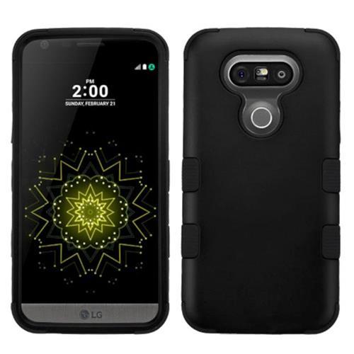 Insten Tuff Hard Hybrid Silicone Cover Case For LG G5, Black