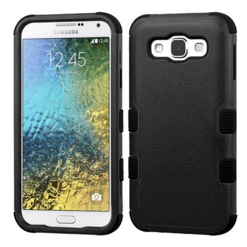 Insten Tuff Hard Dual Layer Rubber Coated Silicone Case For Samsung Galaxy E5, Black