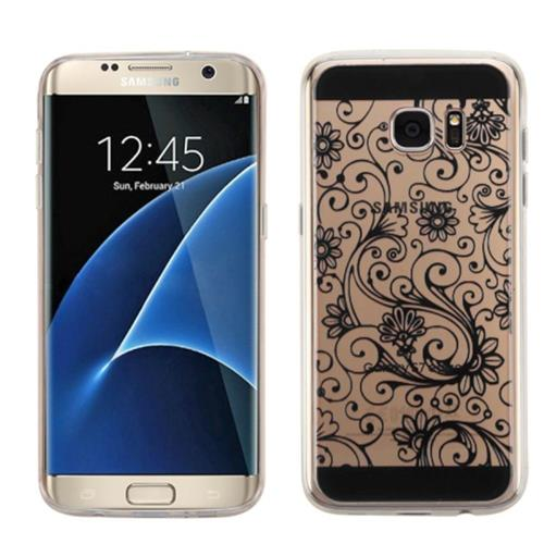 Insten Fitted Hard Shell Case for Samsung Galaxy S7 Edge - Black
