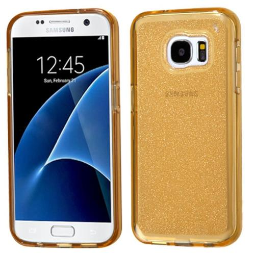Insten Glittering Gel Glitter Case For Samsung Galaxy S7, Gold
