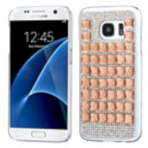 Insten Hard Rhinestone Cover Case For Samsung Galaxy S7, Rose Gold