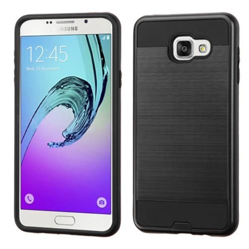 Insten Hard Dual Layer Rubber Silicone Case For Samsung Galaxy A7 (2016), Black