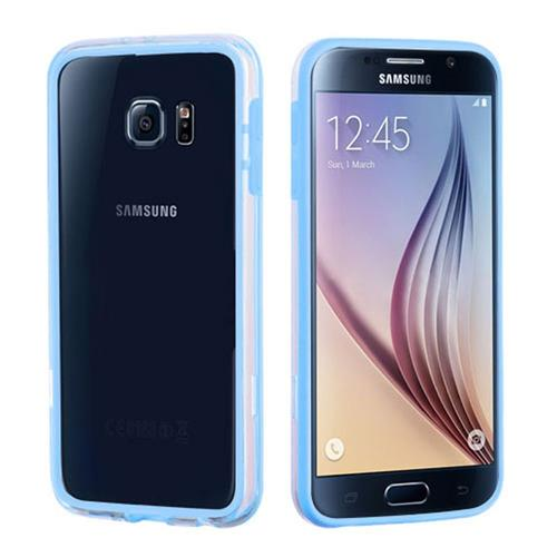 Insten Rubber Bumper For Samsung Galaxy S6, Blue