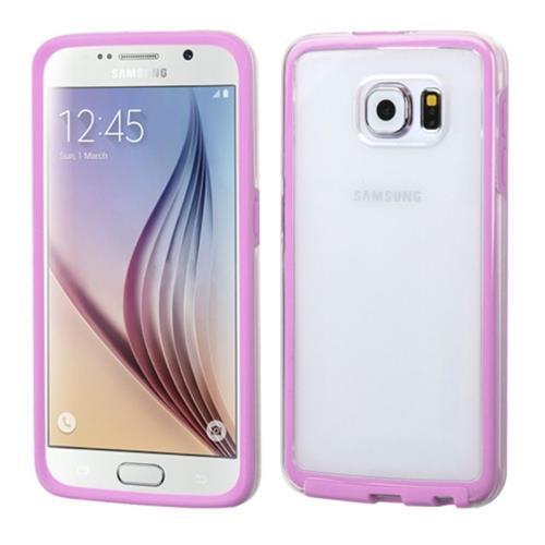 Insten Gel Case For Samsung Galaxy S6, Clear/Pink