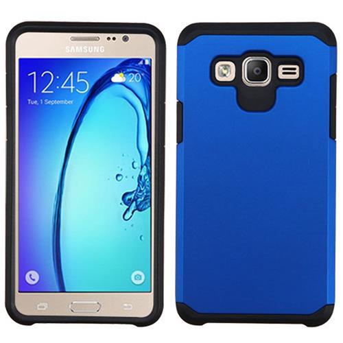 Insten Hard Hybrid Rubber Silicone Case For Samsung Galaxy On5, Blue/Black