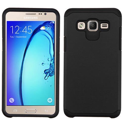 Insten Hard Hybrid Silicone Case For Samsung Galaxy On5, Black