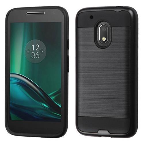 Insten Hard Hybrid TPU Cover Case For Motorola Moto G4 Play, Black