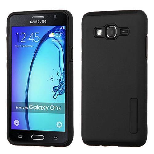 Insten Hard Hybrid Rubberized Silicone Case For Samsung Galaxy On5, Black
