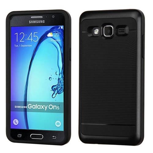 Insten Hard Hybrid TPU Cover Case For Samsung Galaxy On5, Black