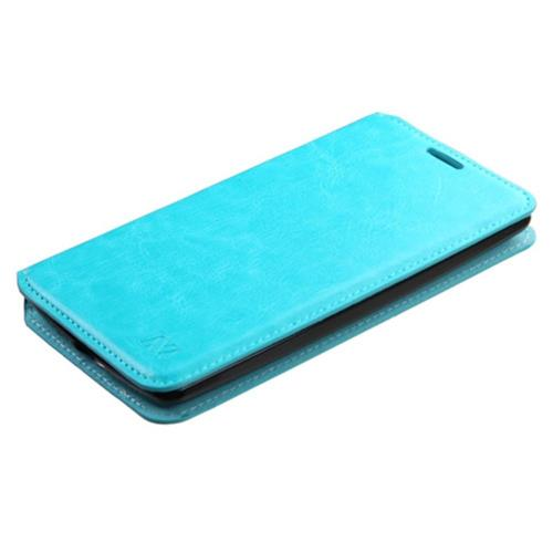 Insten Book-Style Leather Fabric Cover Case w/stand/card holder For LG G4 Stylus, Blue