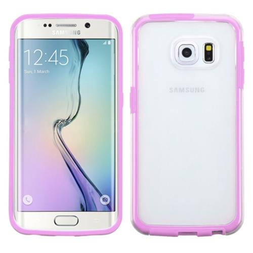 Insten Gel Cover Case For Samsung Galaxy S6 Edge, Clear/Pink