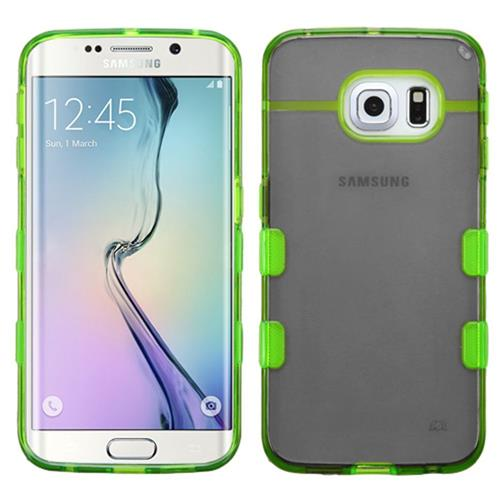 Insten TPU Cover Case For Samsung Galaxy S6 Edge, Black/Green