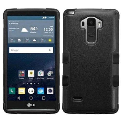 Insten Tuff Hard Dual Layer Rubberized Silicone Case For LG G Stylo, Black