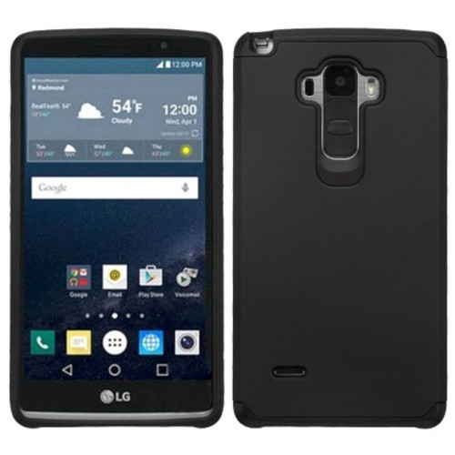 Insten Hard Hybrid Rubber Coated Silicone Case For LG G Stylo, Black