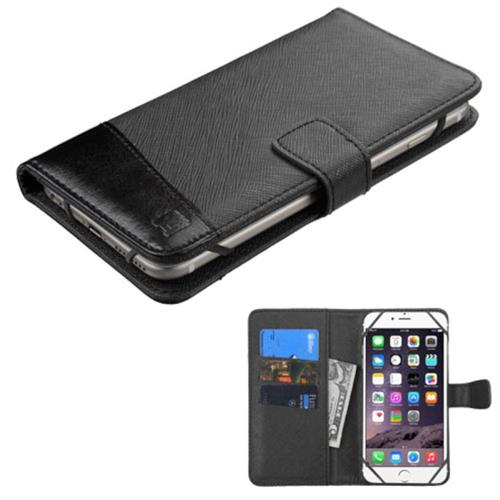 Insten Leather Case For Apple iPhone 6 Plus/6s Plus, Samsung Galaxy Note/S7 Edge and more,Black