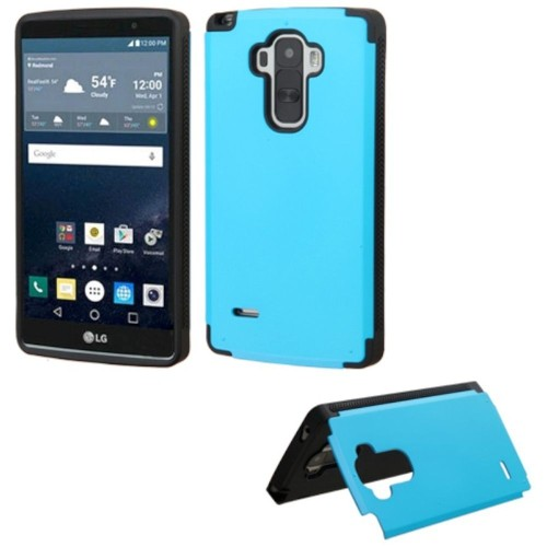 Insten Hard Rubber Coated Case w/card slot For LG G Stylo, Blue