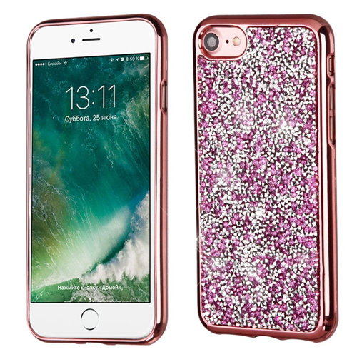 Insten Hard Diamante Case For Apple iPhone 7/iPhone 8, Rose Gold