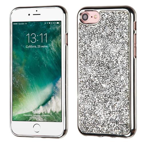 Insten Hard Diamond Case For Apple iPhone 7/iPhone 8, Silver
