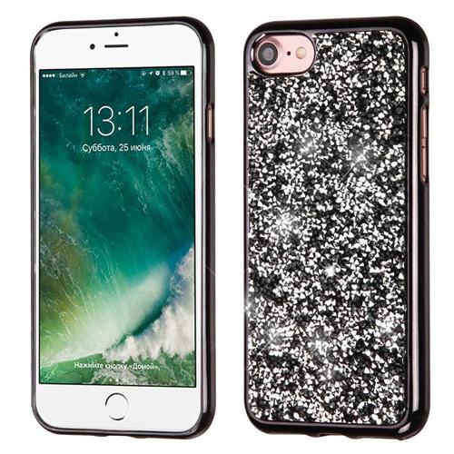 Insten Hard Diamond Cover Case For Apple iPhone 7/iPhone 8, Black