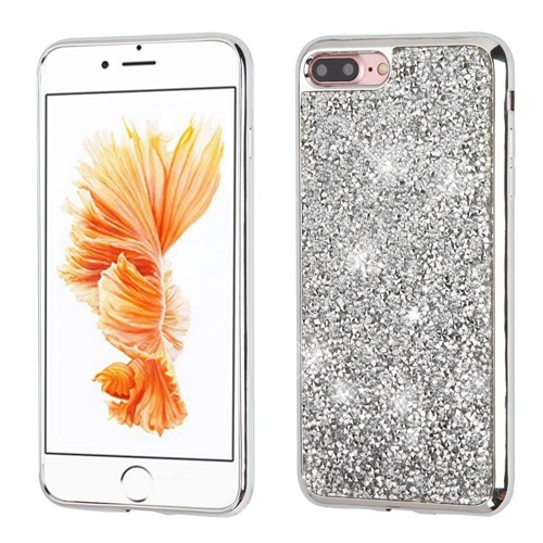 Insten Hard Bling Case For Apple iPhone 7 Plus/8 Plus, Silver