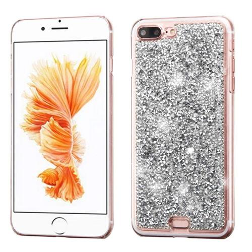 Insten Hard Diamante Case For Apple iPhone 7 Plus/8 Plus, Silver