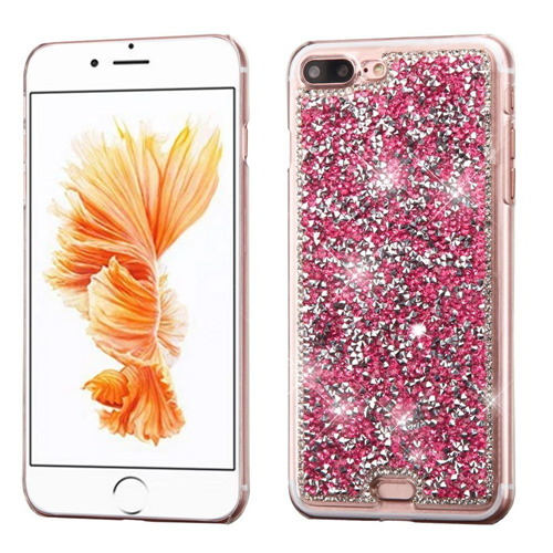Insten Hard Diamond Cover Case For Apple iPhone 7 Plus/8 Plus, Hot Pink