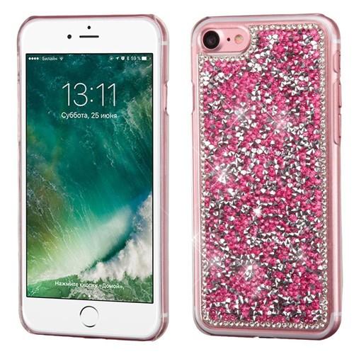 Insten Hard Rhinestone Case For Apple iPhone 7/iPhone 8, Hot Pink