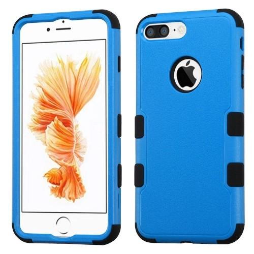 Insten Tuff Hard Dual Layer Silicone Case For Apple iPhone 7 Plus/8 Plus, Blue/Black